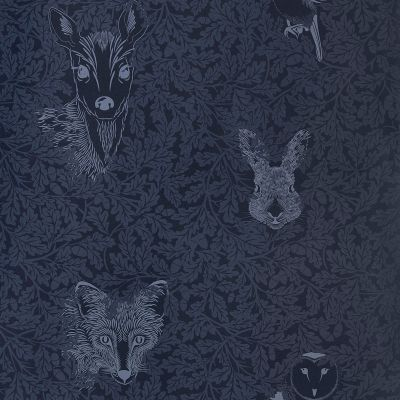 Forest Wallpaper Midnight Blue Hevensent FOR-WP-MID