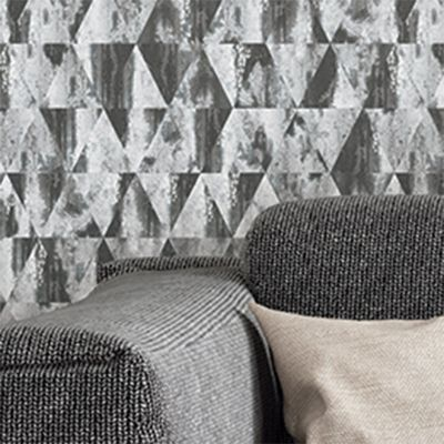 Grunge Collection Rusty Triangles wallpaper  Grey Galerie G45334
