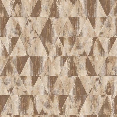 Grunge Collection Rusty Triangles Wallpaper Brown  Galerie G45335