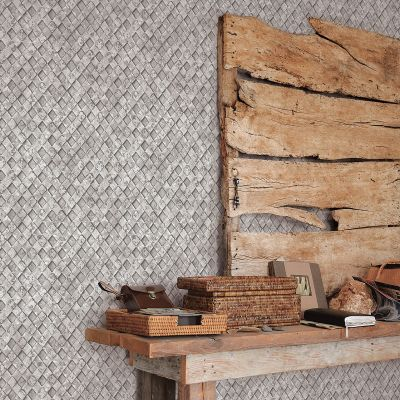 Grunge Collection Metal Grate Grey Galerie G45339