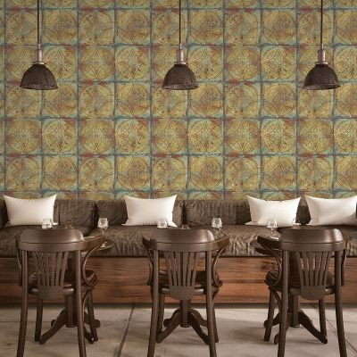 Grunge Collection Tin Tile  Copper Galerie G45376