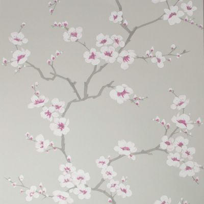 Fresco Apple Blossom Wallpaper Grey Graham & Brown 51-057