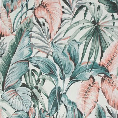 Sublime Leaves Exotique Wallpaper Grey / Pink Graham & Brown 107009