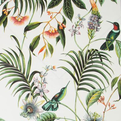 Superfresco Easy Adilah Floral Wallpaper White Graham & Brown 106975
