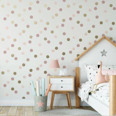 Dotty Polka Dot Wallpaper Pink Graham and Brown 108565
