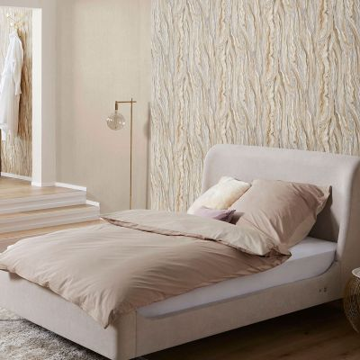 Elle Collection Marble Wallpaper Gold Silver Cream 1014902