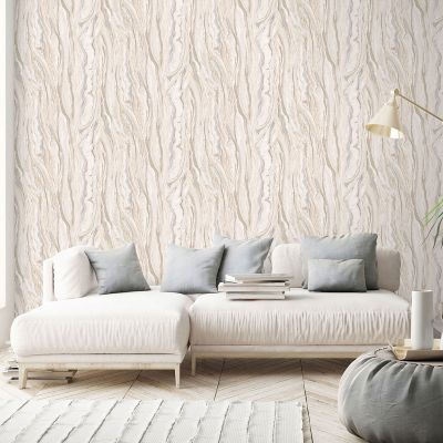 Elle Collection Marble Wallpaper Blush Pink Gold 1014905