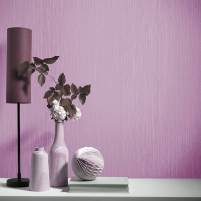 Elle Decoration Plain Textured Wallpaper Purple Pink 1017116