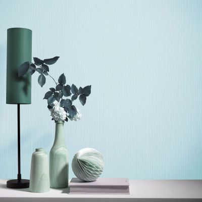 Elle Decoration Plain Textured Wallpaper Light Teal 1017118