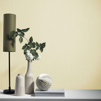 Elle Decoration Plain Textured Wallpaper Light Gold 1017130