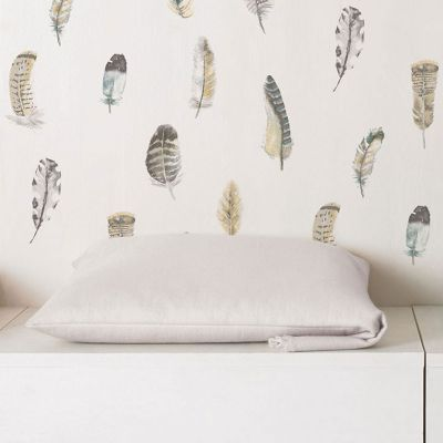 Global Fusion Feathers Wallpaper Ochre G56402