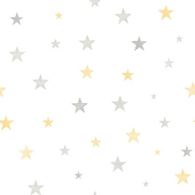 Little Ones Eco Stars Wallpaper Grey GranDeco LO2701