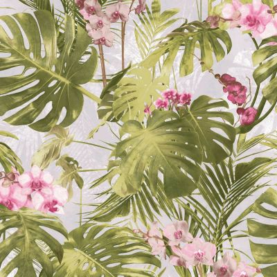 Paradiso Palm Wallpaper Pink GranDeco MY2102