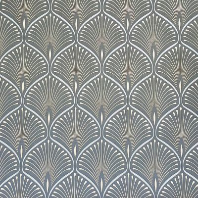 Layla Art Deco Wallpaper Charcoal GranDeco GV3102