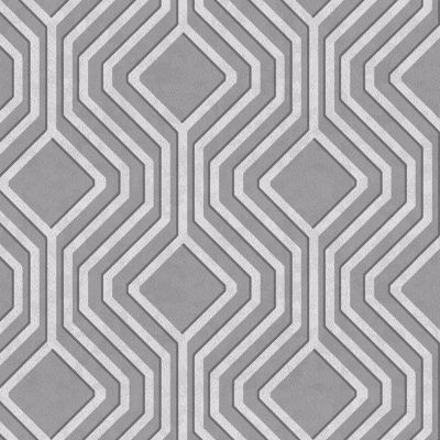 Opus Geometric Sequins Wallpaper - Silver and Dark Grey - Holden Decor 35564