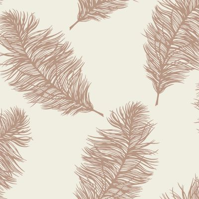 Fawning Feather Wallpaper Copper / Cream Holden 12627