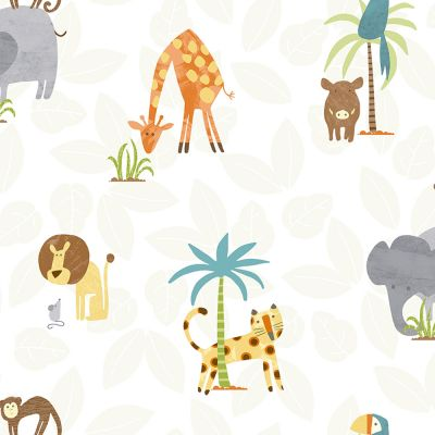 Jungle Friends Wallpaper Multi Holden 12541