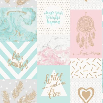 Love Paris Wallpaper Teal Arthouse 691108