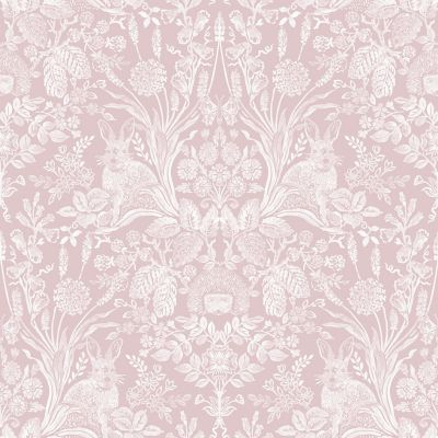 Harlen Woodland Damask Wallpaper Grey Holden 90160