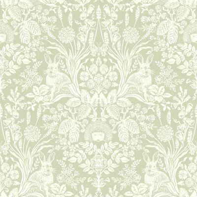 Harlen Woodland Damask Wallpaper Dusky Pink Holden 90161