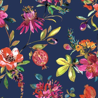 Holden Melgrano Floral Wallpaper Soft Teal 90520