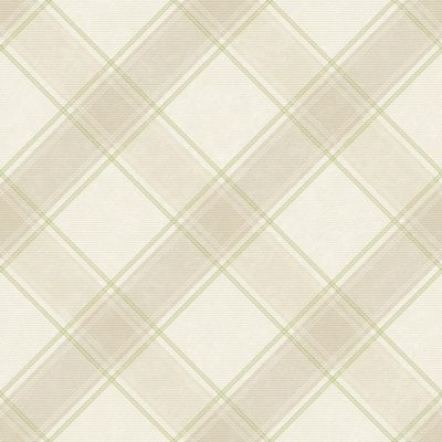 Holden Aidan Check Wallpaper Beige/Green 90743