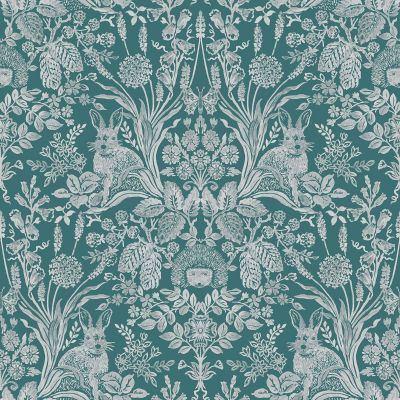 Harlen Woodland Damask Wallpaper Dark Green Holden 90805