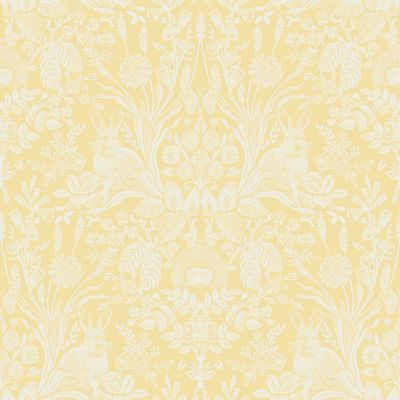 Harlen Woodland Damask Wallpaper Yellow Holden 90806