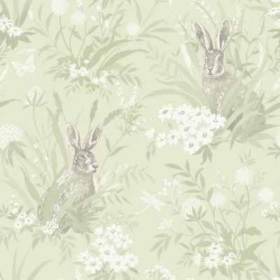 Holden Aayla Hares Wallpaper Pink 90880
