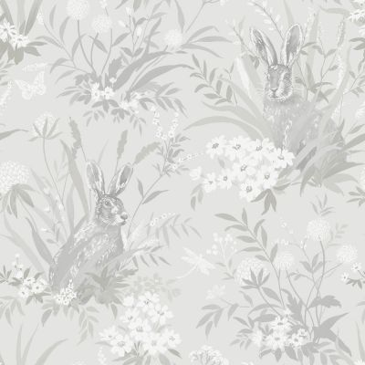 Holden Aayla Hares Wallpaper Pale Green 90881