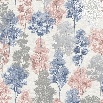 Elements Whinfell Wallpaper Navy / Coral Holden 90381