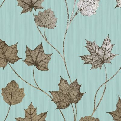 Elements Maple Wallpaper Teal Holden 90400