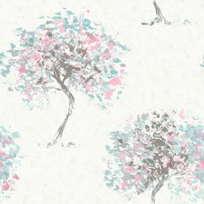 Kaleidoscope Beacon Fell Wallpaper Duck Egg / Pink Holden 90652