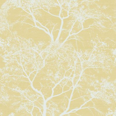 Whispering Trees Glitter Wallpaper Yellow Holden 65621