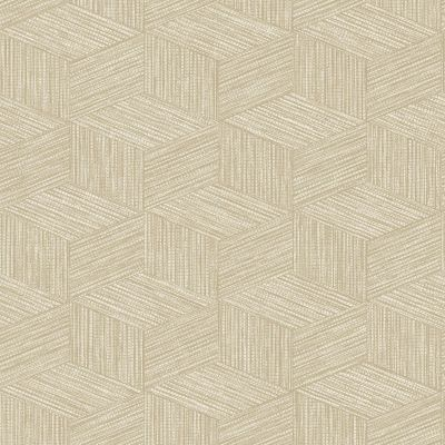 Bakau Geometric Wallpaper Taupe Holden 65641