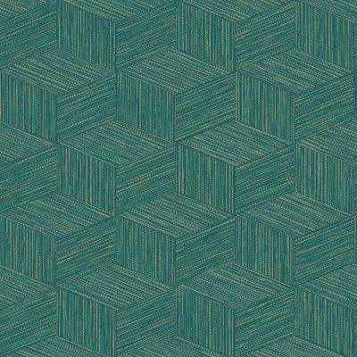 Bakau Geometric Wallpaper Teal Holden 65644