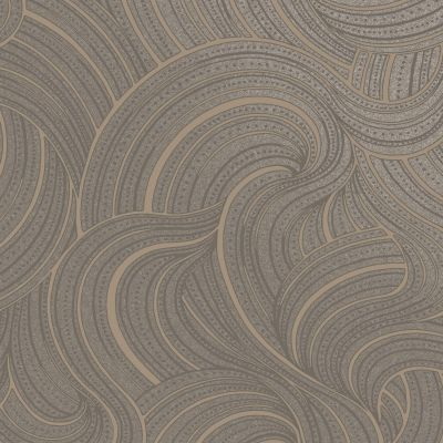 Aurora Swirl Wallpaper Slate/Rose Gold Holden 65722
