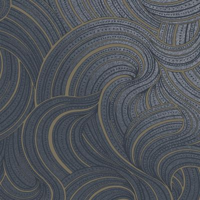 Aurora Swirl Wallpaper Navy Holden 65723