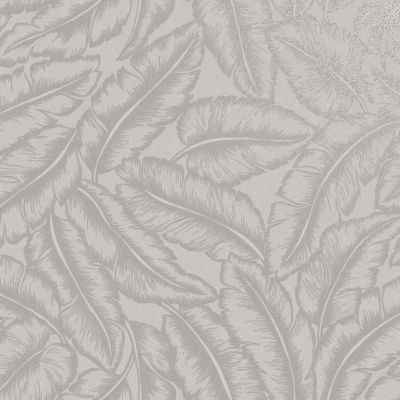 Elgin Tropical Leaf Wallpaper Grey Holden 65730