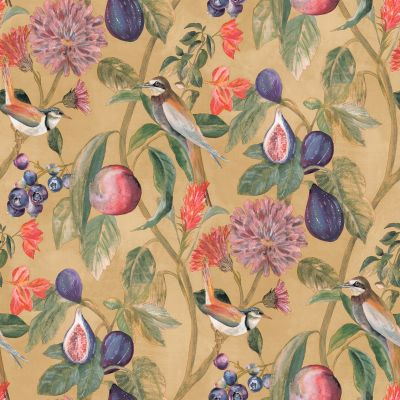 Aruba Bird Trail Wallpaper Ochre Holden 91073