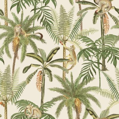 Ateles Tropical Wallpaper Cream Holden 91101