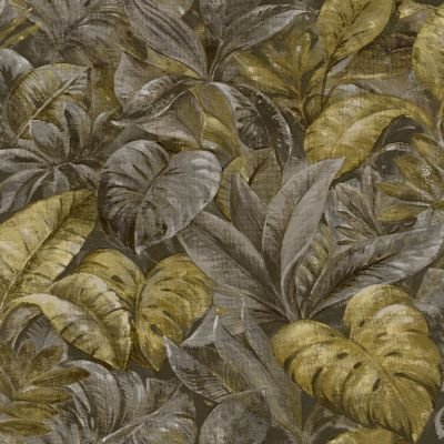 Anori Tropical Leaf Wallpaper Ochre Holden 91110