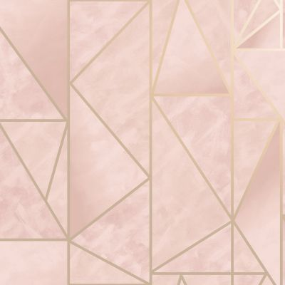 Charon Geometric Wallpaper Pink Holden 91144