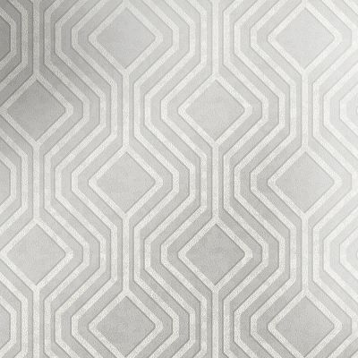 Blenheim Sequins Geo Wallpaper Grey / Silver Holden 60331