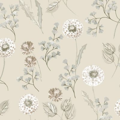 Cassara Floral Wallpaper Cream Taupe Holden 98513