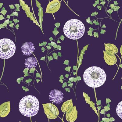 Cassara Floral Wallpaper Plum Holden 98514