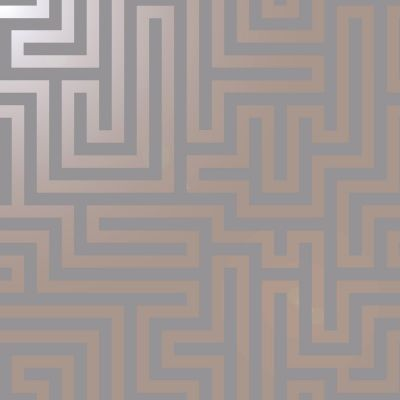 Glistening Maze Wallpaper Grey / Rose Gold Holden 12914