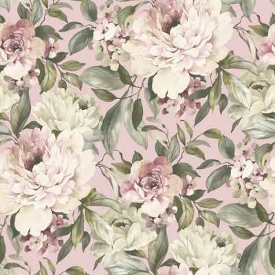 Gardenia Glitter Wallpaper Blush Pink Holden 36070
