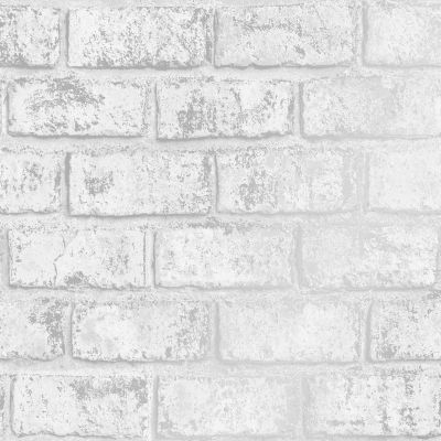 Glistening Brick Wallpaper White / Silver Holden 12950