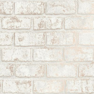 Glistening Brick Wallpaper Cream / Rose Gold Holden 12952